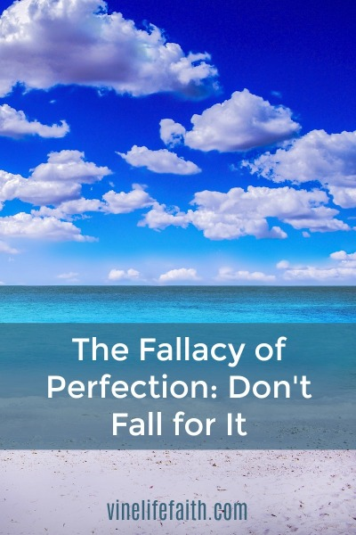 Don't fall for the temptation to be perfect, but if you do, I know a Savior.