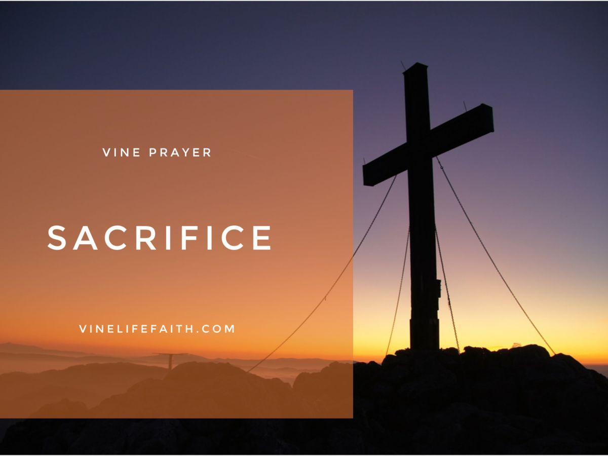Pray God's Word if you don't want to sacrifice for others